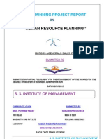 """HUMAN RESOURCE PLANNING'' TATA"