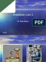 Anestezie Curs 1