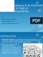 Differential Calculus & Its Practical Applications in Field