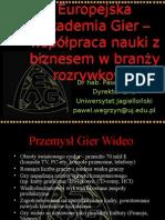 Europejska Akademia Gier – współpraca nauki z biznesem w branży rozrywkowej