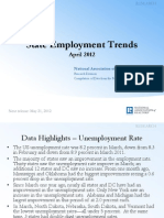 April 2012 Employment State by State April