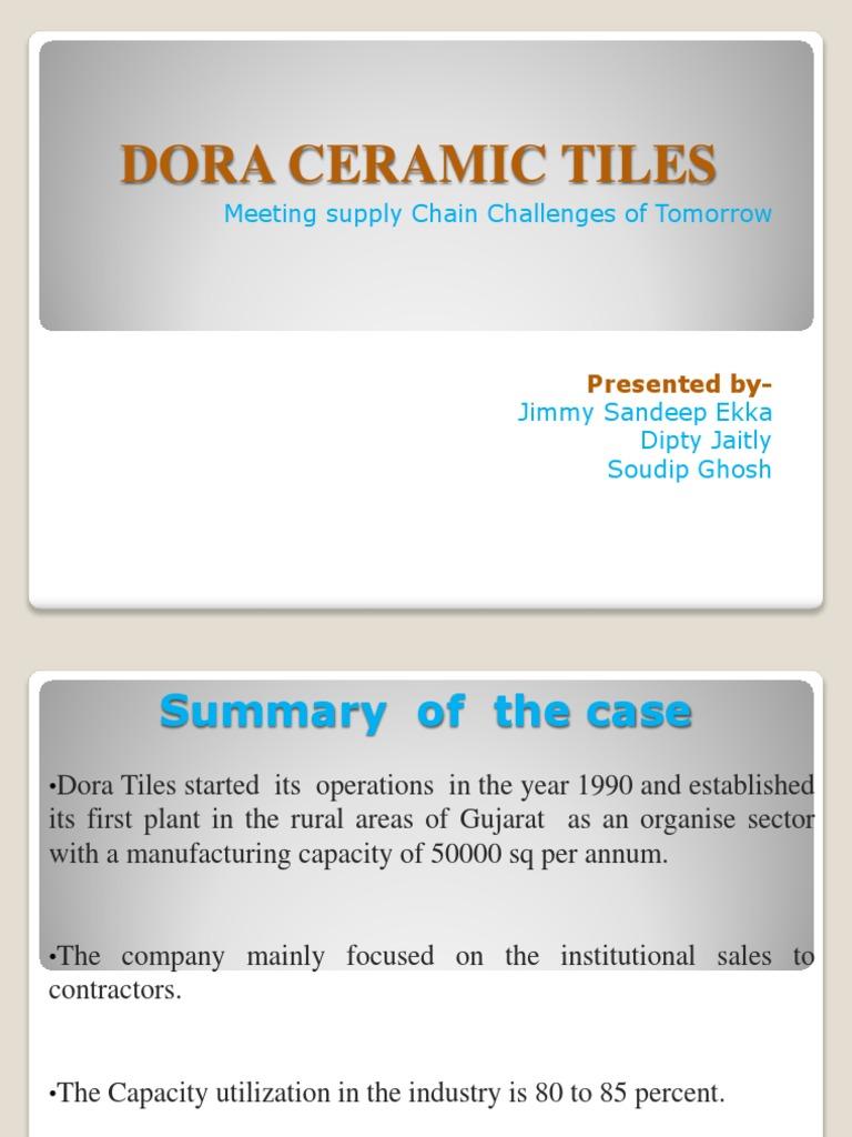 Dora Ceramic Tiles 1 Strategic Management Production And