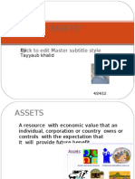 Assets and types of assets