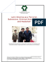 israeli intel center views goals of iran's expanded ties with latin america