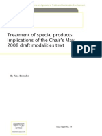 Treatment of special products