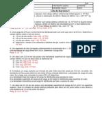 Lista II - Campo elétrico
