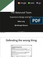 Balanced Team