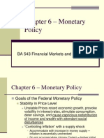 Chapter 6 – Monetary Policy