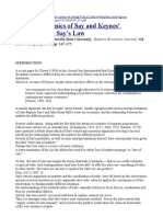 Jonsson - Keynes' Interpretation of Say's Law