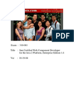 Actual Test - Sun Certified Web Component Developer for the Java 2 Platform, Enterprise Edition 1.4 (310-081)