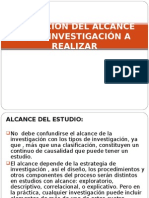 DEFINICIÓN DEL ALCANCE DE LA INVESTIGACIÓN A REALIZAR