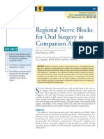 Regional Nerve Blocks Companion Animals
