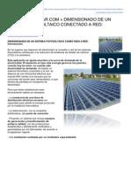 Cleanergysolarcom Dimension Ado de Un Sistema Fotovoltaico Conectado a Red Introduccin