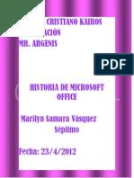 Historia de Microsoft Office