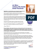 Brilliant Bins - The Sanitary Bins Guide for Dental Practices Edition 3