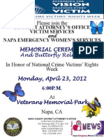 National Crime Victims' Rights Memorial Ceremony & Butterfly Release