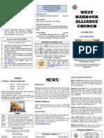 Church Newsletter - 22 April 2012