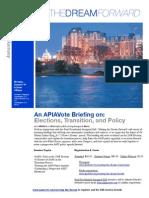 APIAVote Inaugural Briefing Flyer