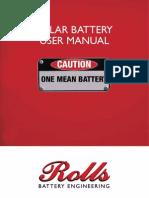 Solar Battery Manual