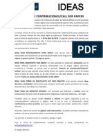 revista ideas peticin de contribuciones call for papers