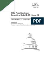 MOU Fiscal Analysis