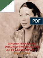 Cincuentenario del Discurso-Programa del 23 de agosto de 1931 por Ilda Urizar