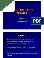 05 DIFRAKSI SINAR X
