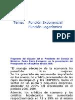 Función Exponencial y Logarítmica