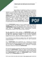 CONTRATO DE PRESTAÇÃO DE SERVIÇOS DE ADVOGADO - Marcos - modelo