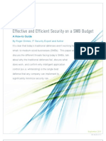 Effective and Efficient Security on a SMB Budget