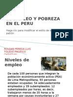El Empleo y Pobreza en El Peru