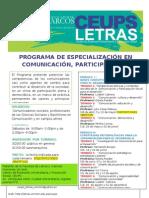 FACEBOOK-AFICHE-PROGRAMA DE ESPECIALIZACIÓN EN COMUNICACIÓN, PARTICIPACIÓN Y DESARRROLLO SOCIAL