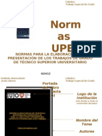 PRESENTACI+ôN NORMAS UPEL