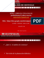 1 Presentación  Análisis de sistemas  - avp