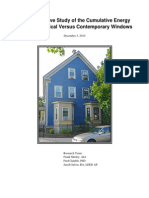 Study of Cumulative Energy Use of Historical Versus Contemporary Windows