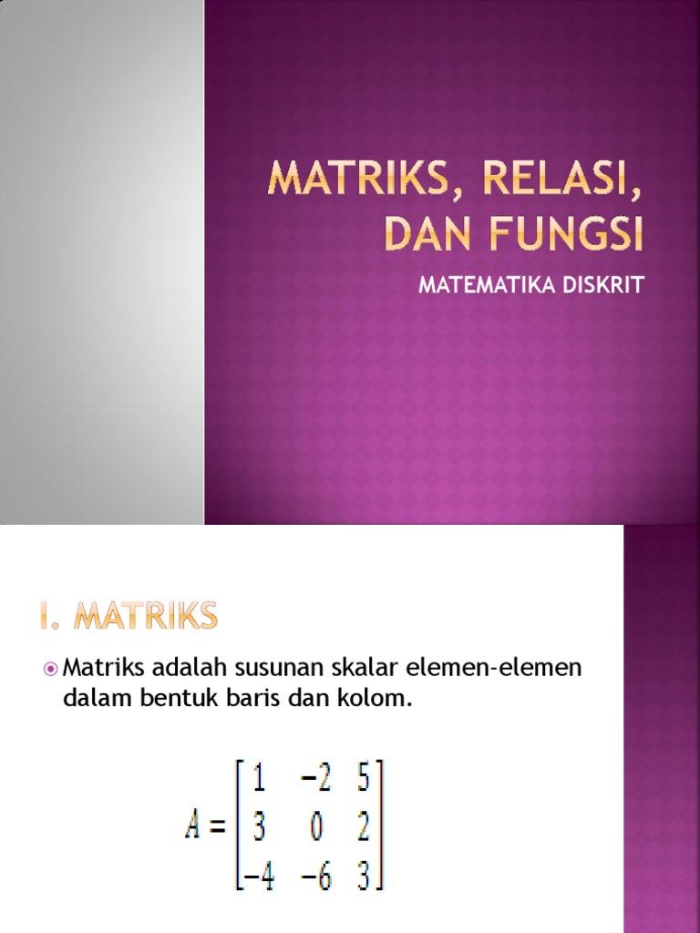 2 Matriks Relasi Fungsi