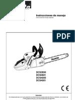 Manual Dcs4301motosierra