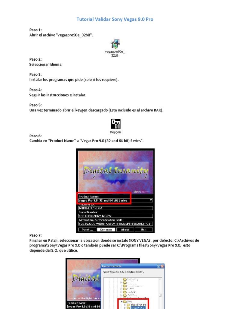 Vegas pro 9 authentication code