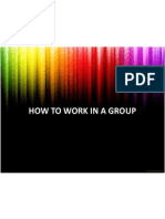 How to Work in a Group