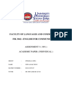 Assignment 3 (FIK3042-English For Communication 2)