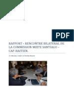 Rapport de La Rencontre Bilateral Cap Haitien Santiago