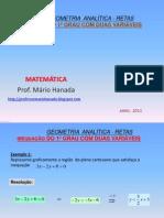 INEQUAÇÃO DO 1º GRAU COM DUAS VARIÁVEIS (geometria analítica)