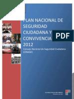 Plan Nacional de Seguridad Ciudadana 2012