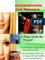 10 Commandments of Manners