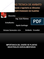 Santiago Ayala 8 Alimentos (IMPORTANCIA DEL DISEÑO DE PLANTAS INDUSTRIALES AGROALIMENTARIAS)