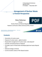 Responsible Management of Nuclear Waste- a Finnish Perspective