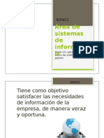 Área de sistemas de información