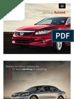 2012 Accord Sedan Brochure