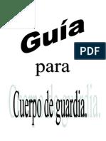 GUÍA PARA CUERPO DE GUARDIA