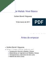 Curso de Matlab. Nivel Básico